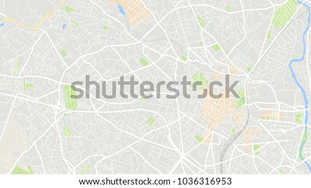 Montpellier On Map Of France.Map City Montpellier France Stock Vector Royalty Free 1036316953