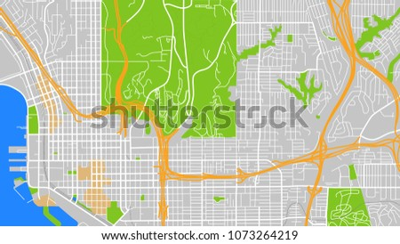 San Diego Map City.Map City San Diego Stock Vector Royalty Free 1073264219 Shutterstock