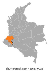 Map - Colombia, Cauca