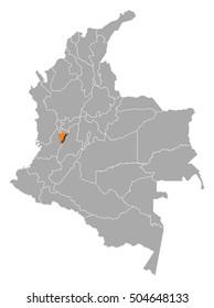 Map - Colombia, Quindio