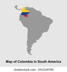 Map of Colombia in South America isolated vector illustration