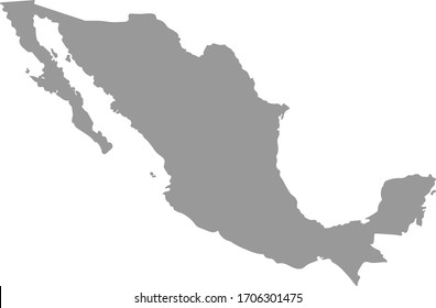 Map of countries, Mexico Map, The country of mexico on white Background, Vector icon isolated