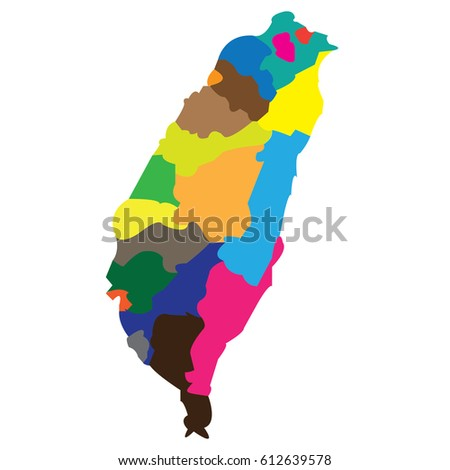 Taiwan On A World Map.Map Countries Taiwan Stock Vector Royalty Free 612639578