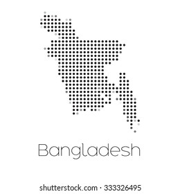 A Map of the country of Bangladesh