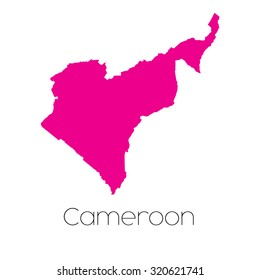 A Map of the country of Cameroon