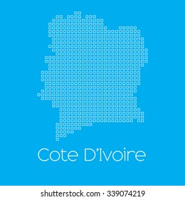 A Map of the country of Cote Divoire