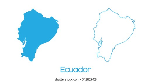 A Map of the country of Ecuador