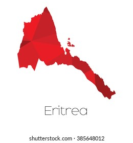 A Map of the country of Eritrea