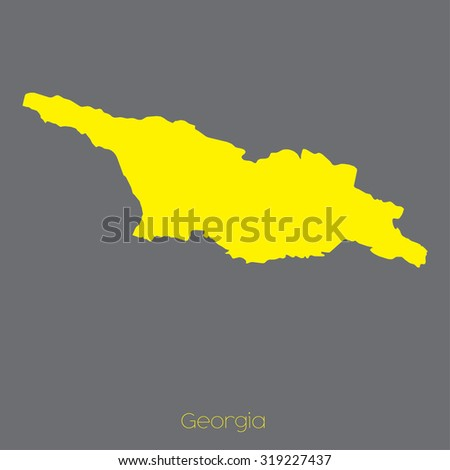 Map Country Georgia Stock Vector Royalty Free 319227437 Shutterstock