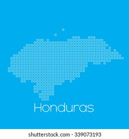 A Map of the country of Honduras