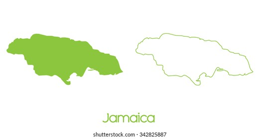 A Map of the country of Jamaica