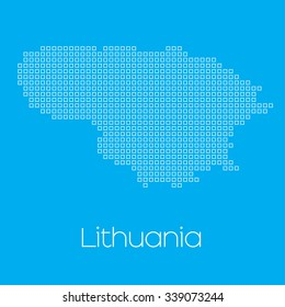 A Map of the country of Lithuania