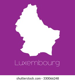 A Map of the country of Luxembourg