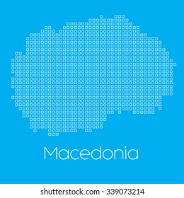 A Map of the country of Macedonia