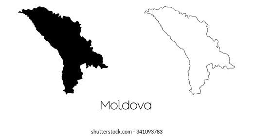 A Map of the country of Moldova