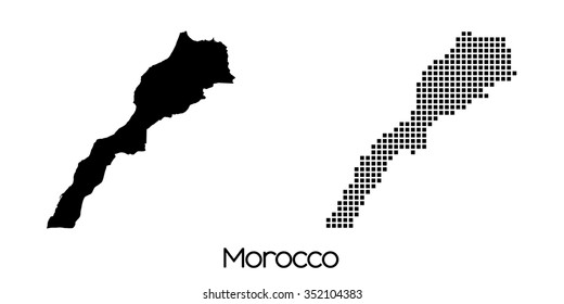 A Map of the country of Morocco