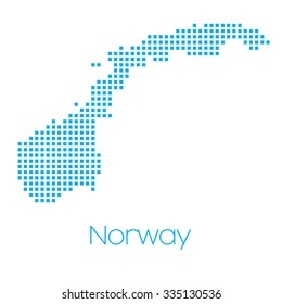 A Map of the country of Norway