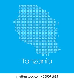 A Map of the country of Tanzania
