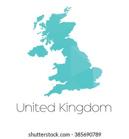 A Map of the country of United Kingdom