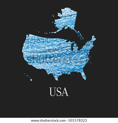 Map Of Country Usa.Map Country Usa Illustration United States Stock Vector Royalty