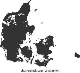 map of Denmark