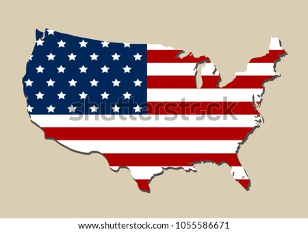 Map Detail USA American Flag EPS Stock Vector (Royalty Free ...