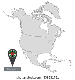 3d North America Map On Grey Stock Illustration 93564115 Shutterstock