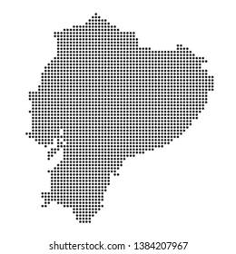 Map with dot - Ecuador
