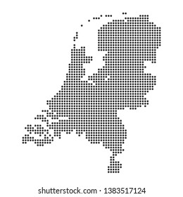 Map with dot - Netherlands