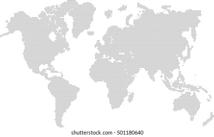 map dot world vector hemisphere north