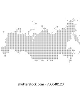 Map of dotted Russia. Vector eps 10