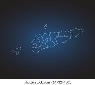 Map of East Timor - Abstract mash line and point scales on circuit dark background. symbol for your web site design map logo, app, ui,Travel. Vector illustration eps 10.