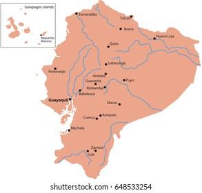 map ecuador