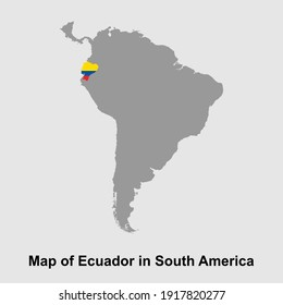 Map of Ecuador in South America isolated vector illustration