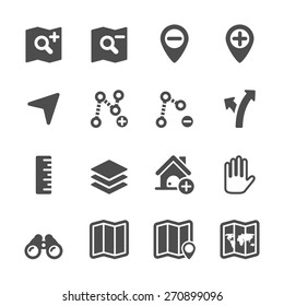 map editing icon set, vector eps10.