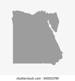 Map of Egypt in gray on a white background