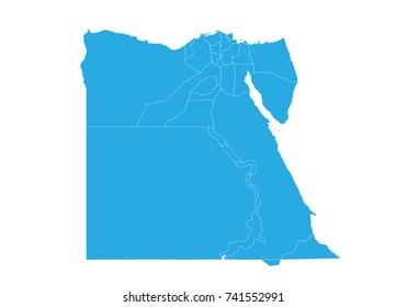 Map of egypt. High detailed vector map - egypt.