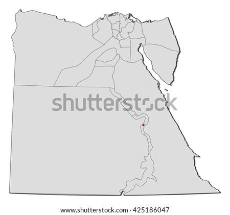 Map Egypt Luxor Stock Vector Royalty Free 425186047 Shutterstock