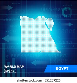Map Of Egypt,Abstract background, vector illustration