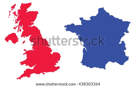 Map Of England To France.Map England France Stock Vector Royalty Free 438303364 Shutterstock
