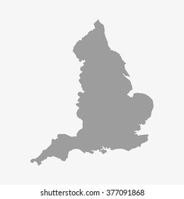 Map  of England in gray on a white background