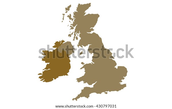 Map England Ireland Stock Vector Royalty Free 430797031