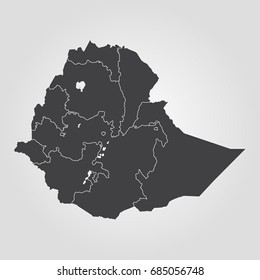 Ethiopia Map Images, Stock Photos & Vectors | Shutterstock