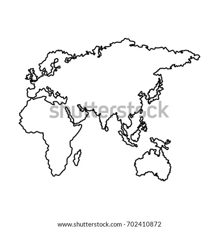 Map Europe Africa Asia Country Stock Vector Royalty Free 702410872