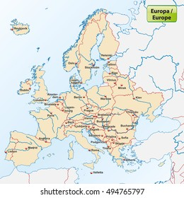Map Europe Capitals Stock Vectors, Images & Vector Art ...
