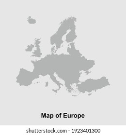 Map of Europe isolated vector illustration