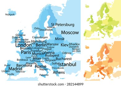 Bulgaria Vector Map Largest Cities Carefully Stock Vector (Royalty ...