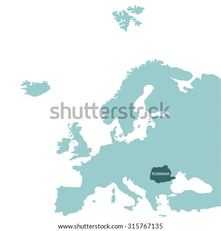 Map Europe Romania Stock Vector (Royalty Free) 315767135 - Shutterstock