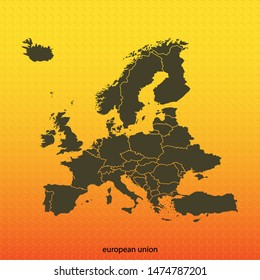 map of Europe . vector illustration