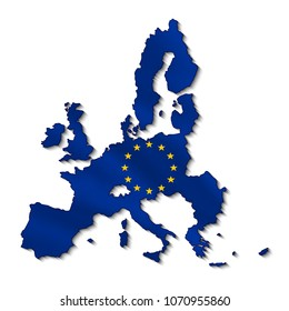 Map of european union in 3d.